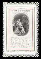 santino merlettato-holy card-canivet*LETAILLE pl.garde 38 S.TARCISIO M.