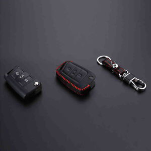 For Skoda Octavia Fabia Rapid Key Case Cover Holder Car Leather Key fob Protect