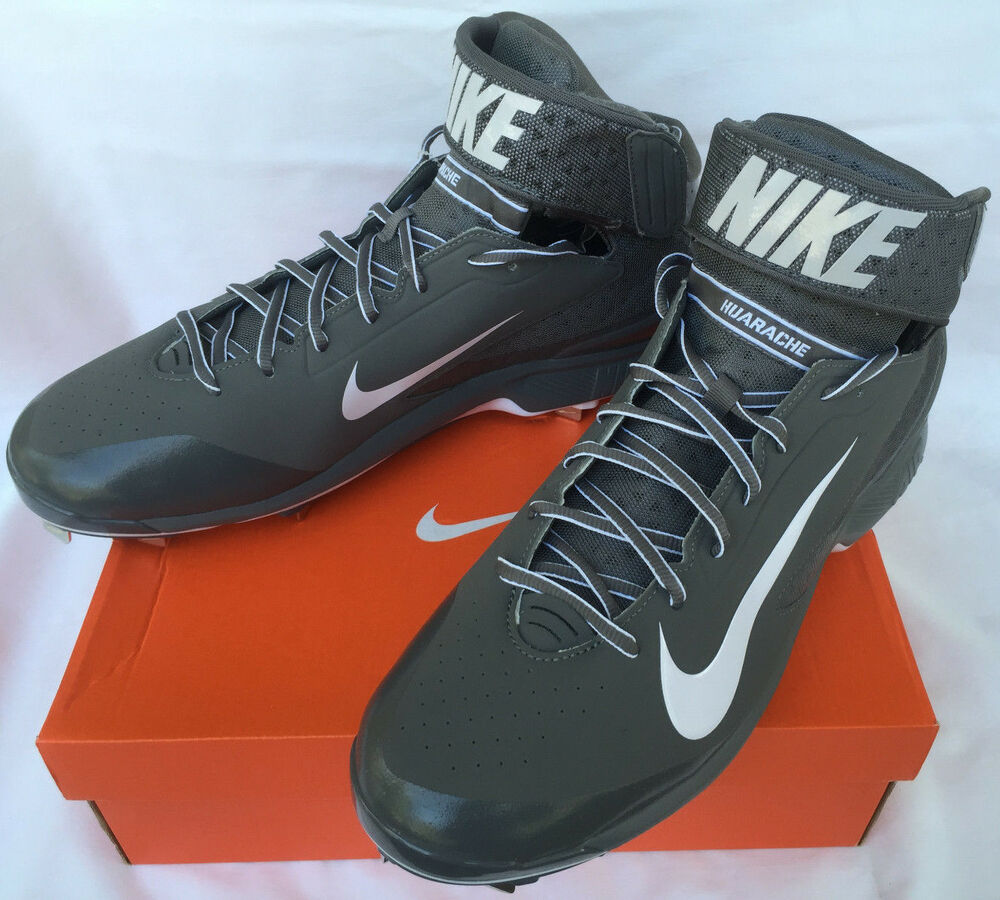Nike Air Huarache Pro Mid Metal 599235-015 Baseball Cleats chaussures homme 14 new