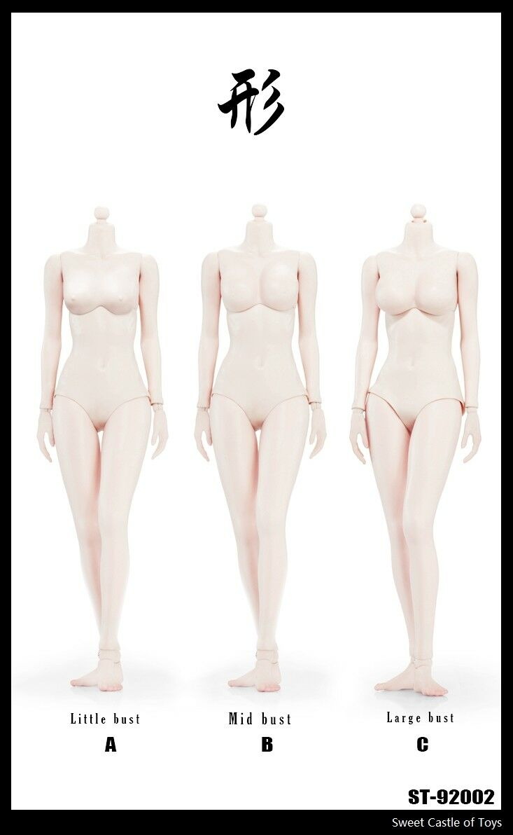 1 6 Xing Super Female Seamless Body w Stainless Steel Skeleton in Pale 92002