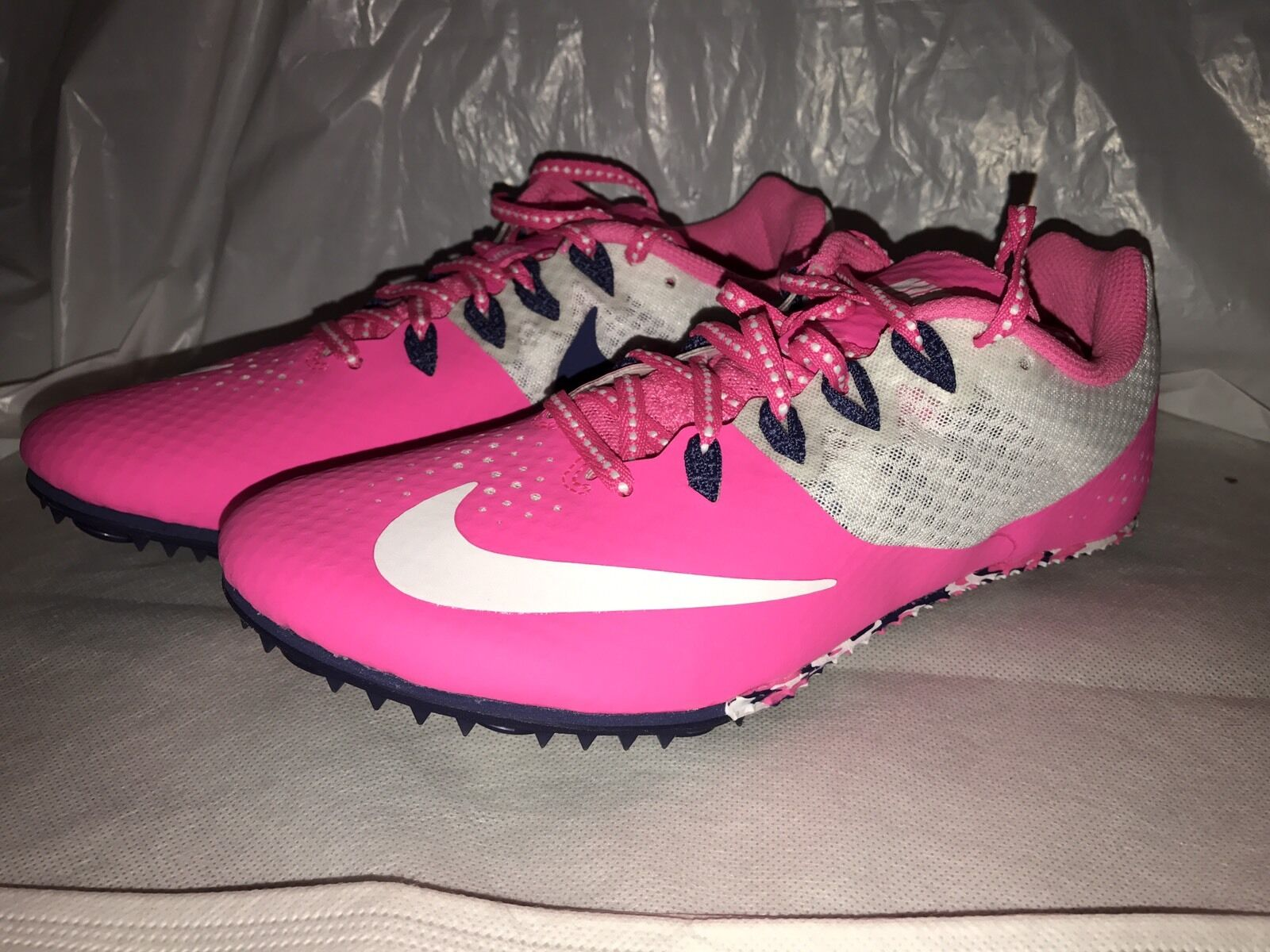 NEW NIKE Zoom Rival S 8 Track Shoes WOMEN'S 7 Pink White Purple 806558-615 Price reduction Wild casual shoes