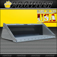 Prowler 66 Inch Long Bottom Skid Steer Bucket With Bolt On Cutting Edge - 66
