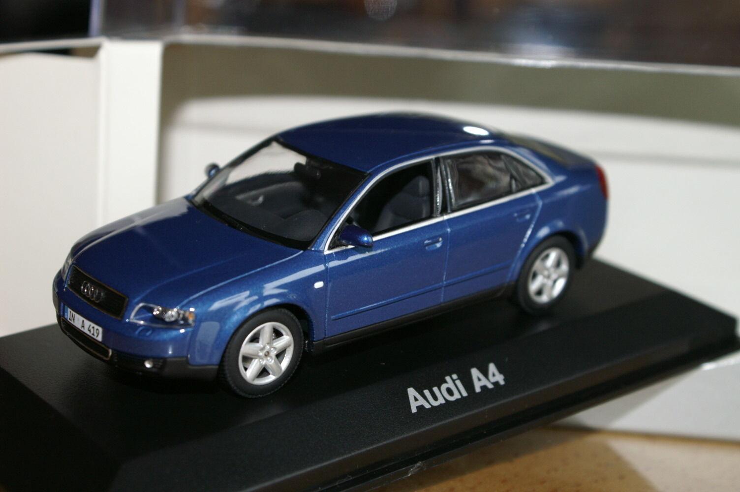 1 43 Audi A4 Blau B6 MINICHAMPS blau 2.3.4.6.8.9.0.5.7.tdi fsi t quattro  | Die erste Reihe von umfassenden Spezifikationen für Kunden