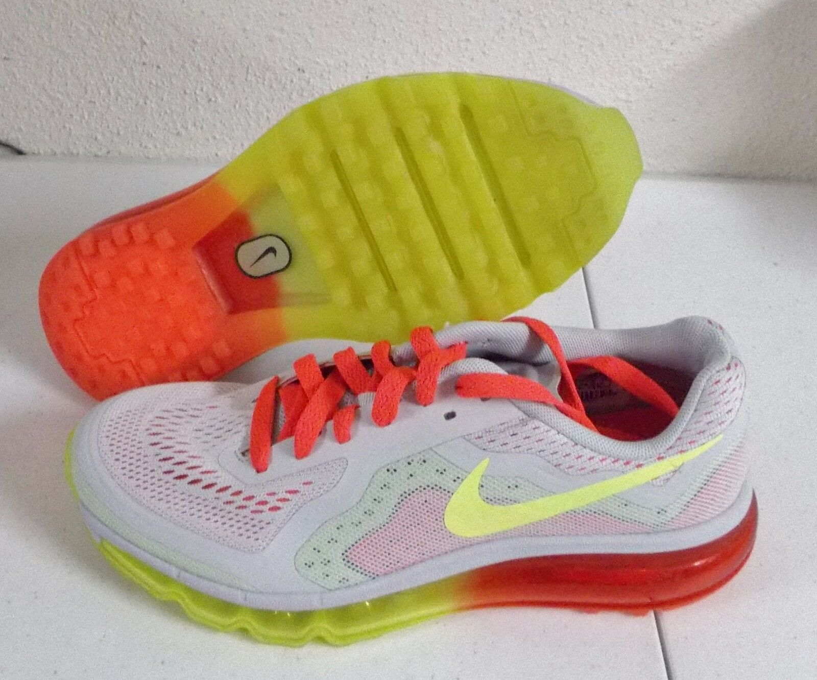 NEW NIKE AIR MAX 2014 Womens 5.5 (4Y) PURE PLATINUM VOLT Limited