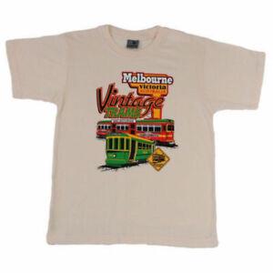 Adult-T-Shirt-Australian-Australia-Day-Souvenir-100-Cotton-Melbourne-Trams