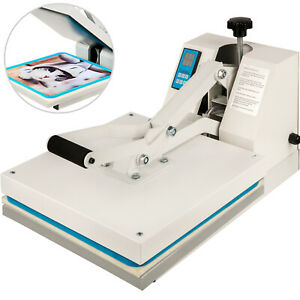"Heat Press 15""X15"" Clamshell Sublimation Transfer Machine T-Shirt DIY 1400W"