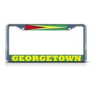 MICRONESIA CHROME COUNTRY Metal License Plate Frame Tag Holder Two Holes