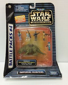 STAR WARS MICRO MACHINES ACTION FLEET BATTLE PACK #4 IMPERIAL HUNTERS LOOSE