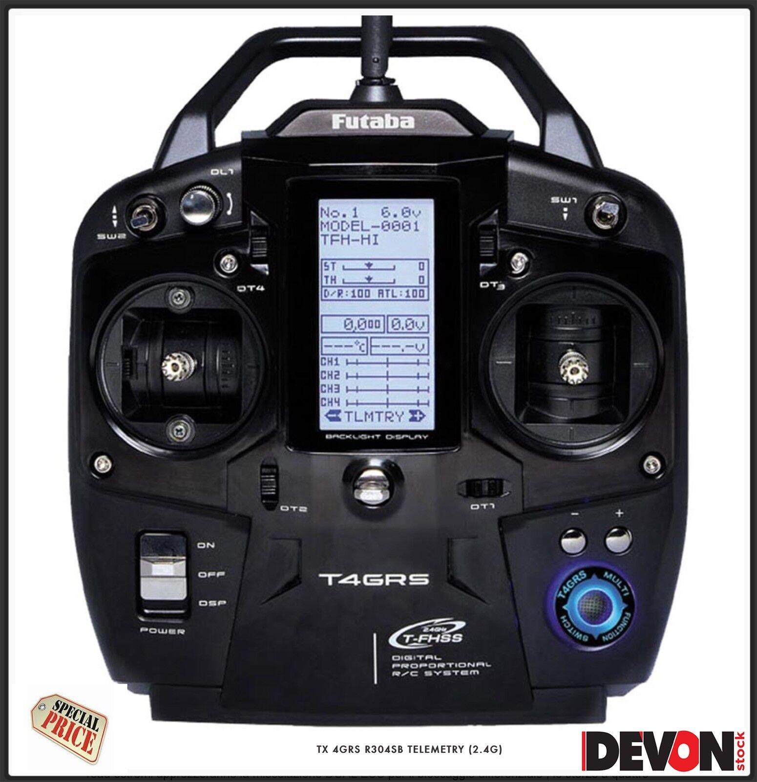 Radio control Futaba 4GRS mottagare R304SB TELEEMETtry 2.4 leksaksbil