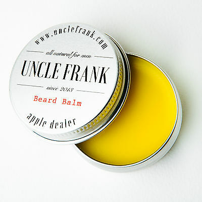 Beard Balm 100% Natural, by Uncle Frank. Vanilla and Apple, Apple Dealer Scent