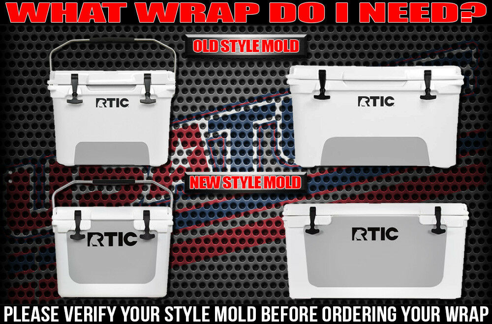 USATuff Cooler Wrap Decal 'Fits New Mold' RTIC RTIC RTIC 65QT Full Niedriger BoneFish Wood f54fea