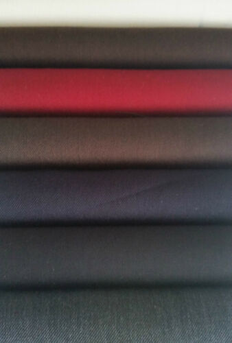 Premium Gabardine app 8 colours 150cm wide new wool composition