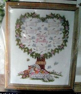 Family-Tree-Baby-Cross-Stitch-Kit-Genealogy-History-Bucilla-Counted-New-45707