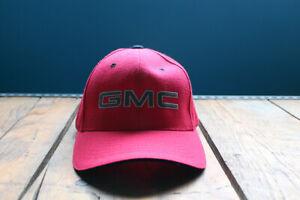 GMC Truck Logo Contrast Stitch Baseball Cap Black Red Hat