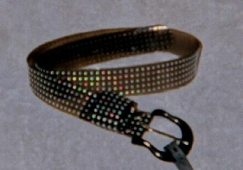 CHARCOAL Cruelty Free Material BELT Silver Dot 30 32