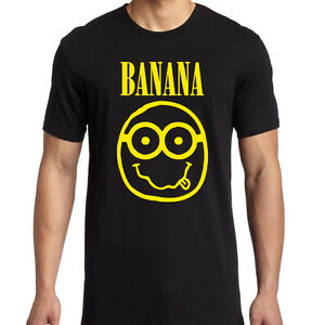 Details about Banana MINIONS / NIRVANA spoof T-shirt | Despicable Me |  Grunge | Music | Movies