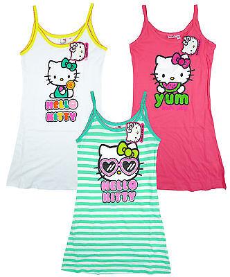 Dress Cotton Strap Sun Fashion Girl's Hello Kitty Yum Summer Fashion 4-10 Years