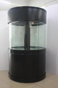 "Pet Supplies Professional Sale Aquavim Reef-ready Glass Cylinder 48"" Diameter X36""h Aquarium Ensemble Drilled"