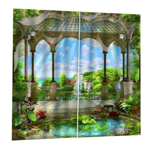 Wasserdichte 3D Vorhang Hause Vorhänge Indoor Outdoor Solide Cabana