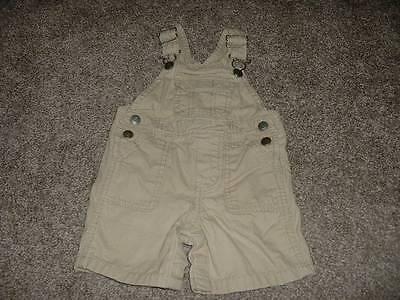 Carter's Baby Boys Khaki Shortalls Short Overalls Size 9 Months 9M Summer Spring