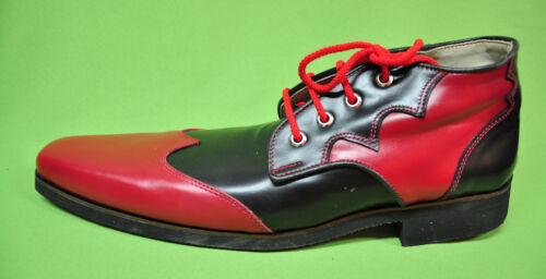ZYKO Professional Real Leather Clown Shoes Extra Long model Red//Black ZH002