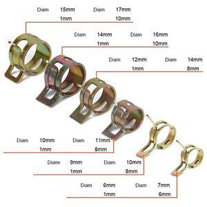 Colliers-Ressort-pour-Durite-Essence-Tous-Diametre-disponible-Auto-Moto-Bateau