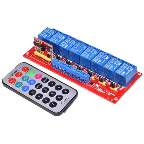 Multi-function 5V 8-Channel Relay Module Bidirectional Infrared Remote Control