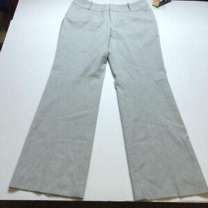 Mossimo Fit 4 Mid Rise Curvy Hip Light Gray Dress Pants Sz 12 A787