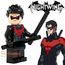 Nightwing Minifigure fits Lego Toy DC Comics Batman H72017