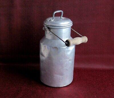 Alte Milchkanne Aus Aluminium Mit Holz-tragegriff / 2 Liter RegelmäßIges TeegeträNk Verbessert Ihre Gesundheit