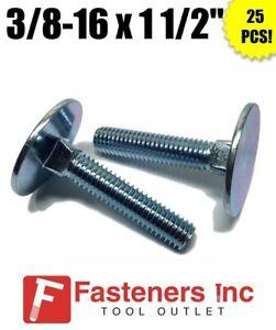 3//8-16 x 1 3//4 Grade 2 Elevator Bolt Zinc 50