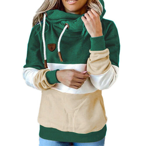 Womens Camo Long Sleeve Hoodies Ladies Hooded Sweatshirt Jumper Pullover Tops UK