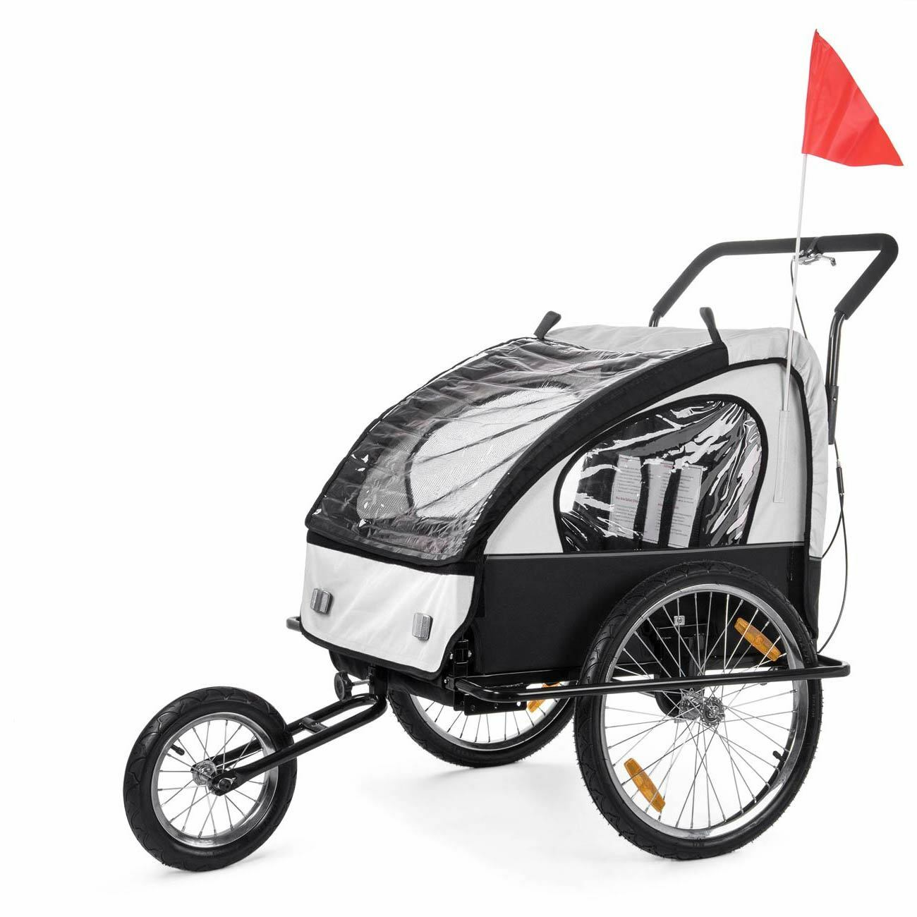 Remorque Vélo Transport Convertible Jogger 2en1 Enfants Amortisseur Transport Vélo Neuf SAMAX 93dbc5