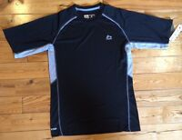 Mens Rxb Black Gray S/s Performance Active Shirt Size Small S $48