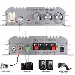 300w 12v car home super bass hi fi2 1 stereo audio amplifier booster subwoofer ebay. Black Bedroom Furniture Sets. Home Design Ideas