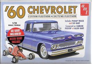 AMT 1960 '60 Chevrolet sur Mesure Fleetside Avec / Go Kart en 1/25 1063 M/12 St