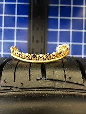 Antique Vintage 14 K Gold Crown Pearls Sapphires Hair Comb Bracelet