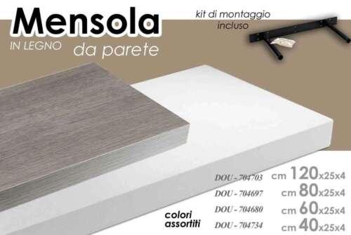 Regalbrett Wand in Holz Bibilothek Regal Hängende Möbel Verschiedene Farben Maße