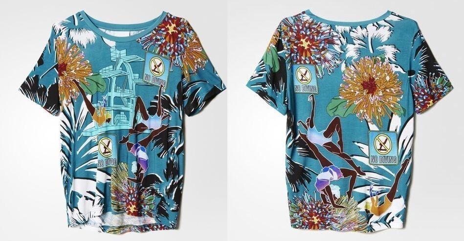 ADIDAS ORIGINALS x MARY Katrantzou print floral tee shirt
