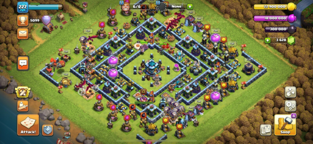 Clash of Clans Max TH13+BB, Max TH13 Clash of Clans, COC,…