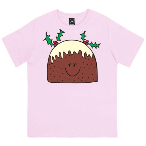 La Signora Natale Pudding Grazioso festosa GIRLS NOVITA /'iare Per Bambini Natale T-shirt