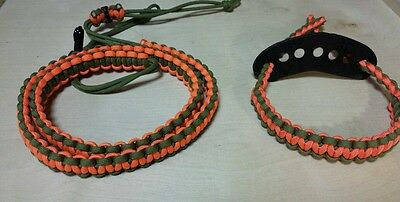 Archery bow Wrist / Shoulder strap sling Orange Green hoyt bowtech mathews