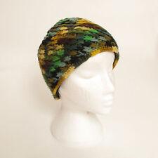 Hand Knitted Winter Woollen Crochet Beanie Hat, One Size, UNISEX CH8