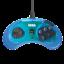 thumbnail 2 - New Retro-Bit Official Sega Genesis Controller 6-Button Arcade Pad - CLEAR BLUE