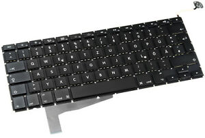 Original-de-Apple-Keyboard-teclado-MacBook-Pro-Unibody-a1286-2008-aleman-QWERTZ