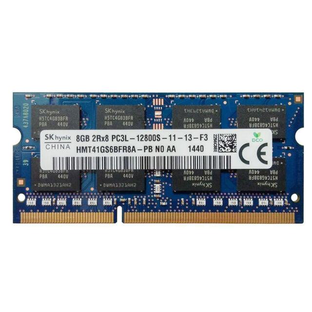 SK Hynix 8GB DDR3 PC3-12800 Laptop RAM Memory HMT41GS6AFR8A-PB