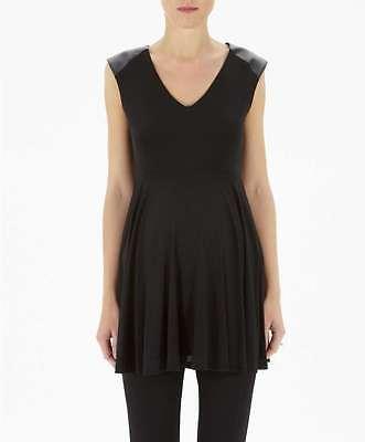 SALE MAMAS AND PAPAS BLACK MESH MATERNITY DRESS TUNIC TOP SIZE 8 10 12 14 16