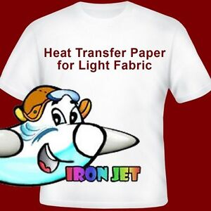 Heat Transfer Paper Light T-Shirt Inkjet-Printer Iron On Heat Press PL 10Pk :)