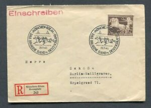 German-Reich-WW-II-Great-R-Cover-from-1940-Horse-race-Munich-sent