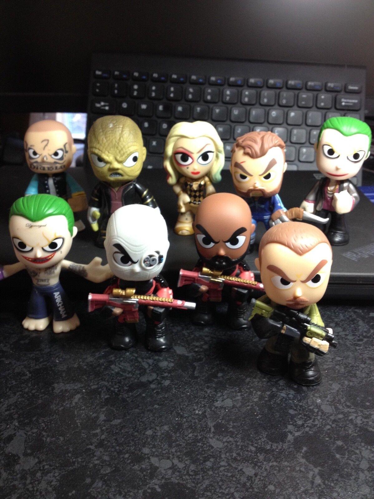 "Funko 3"" Suicide Squad Mystery Minis Bundle including Joker, Deadshot, Harley"